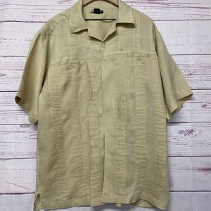 Godbody Collection Mens Button Front Shirt Beige